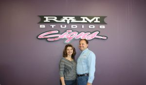 ram studios signs lobby sign