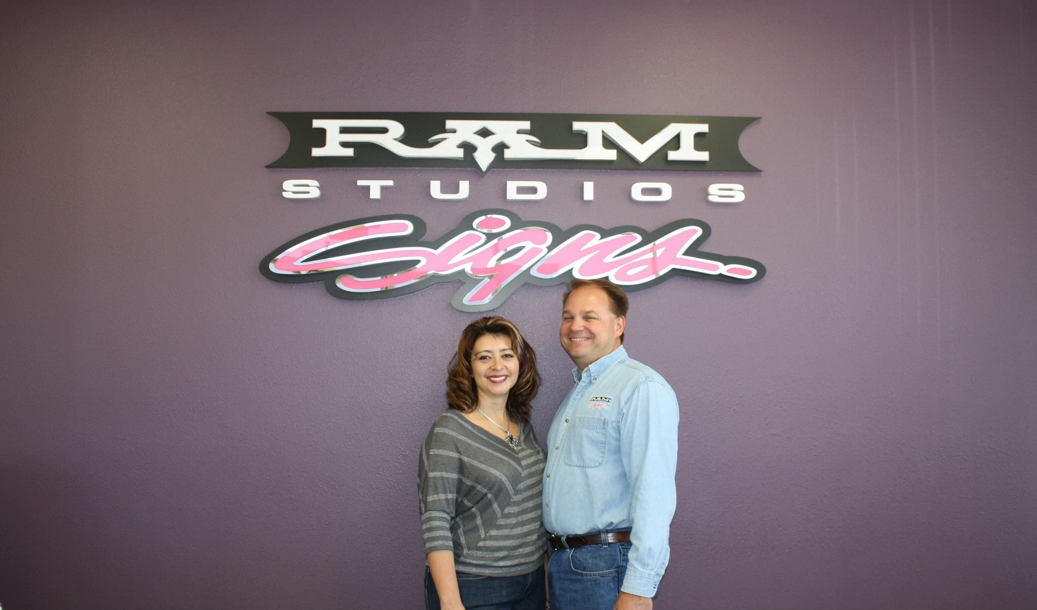 ram studios signs lobby sign