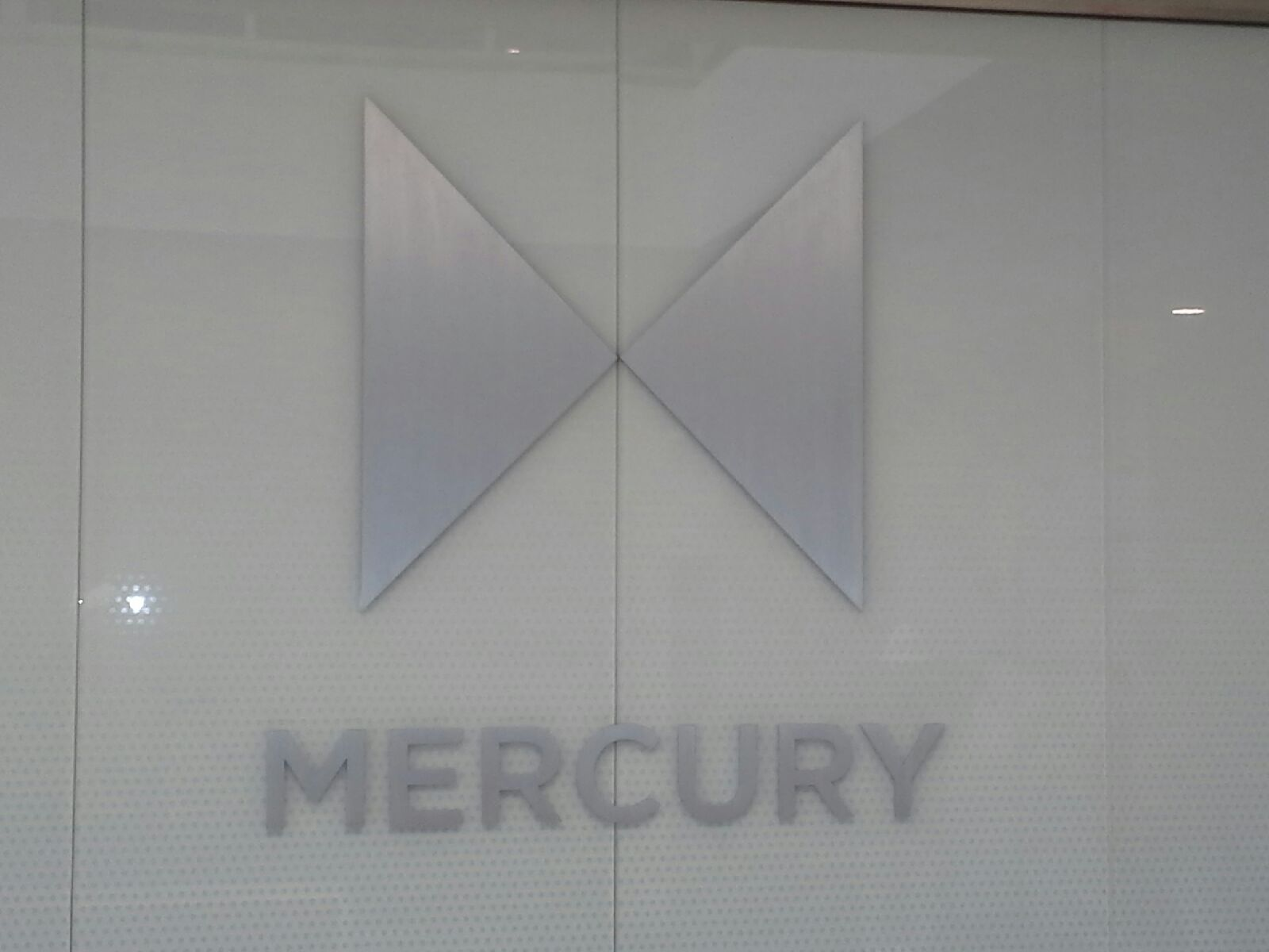 mercury payment systems lobby sign