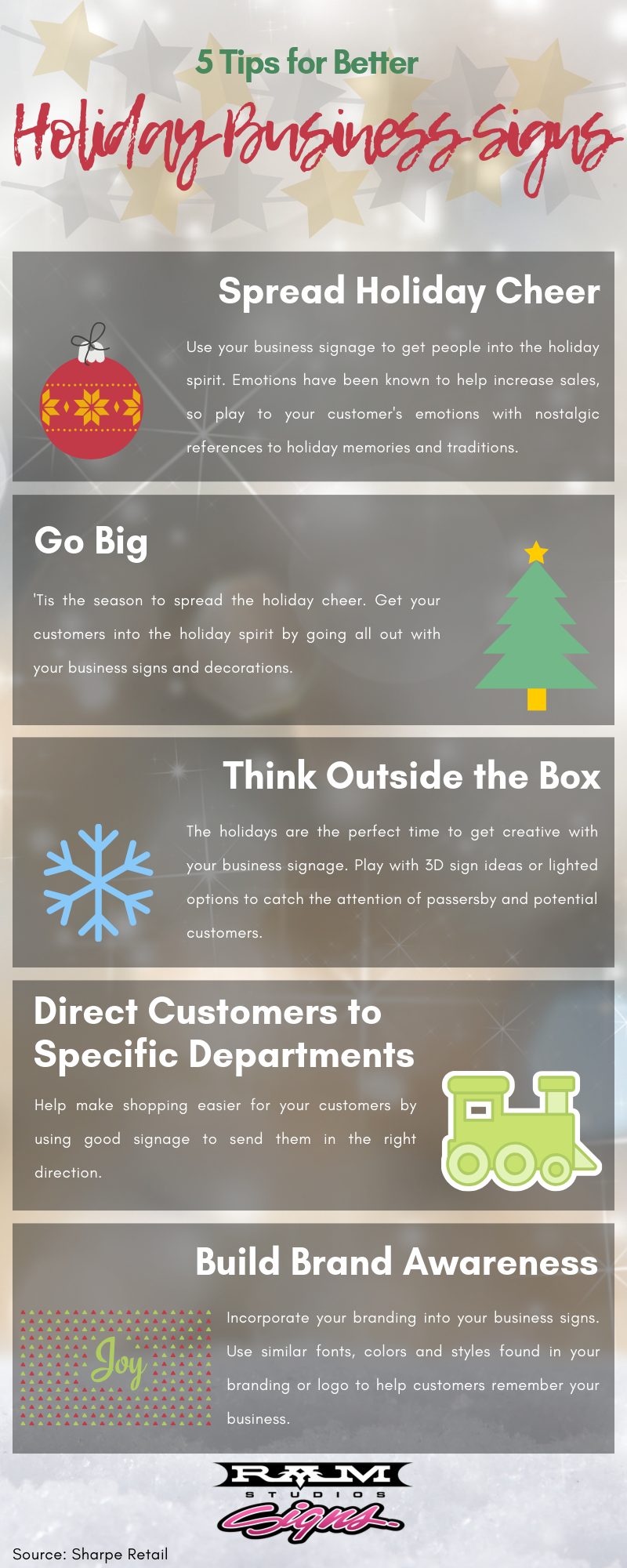 holiday business signs infographic