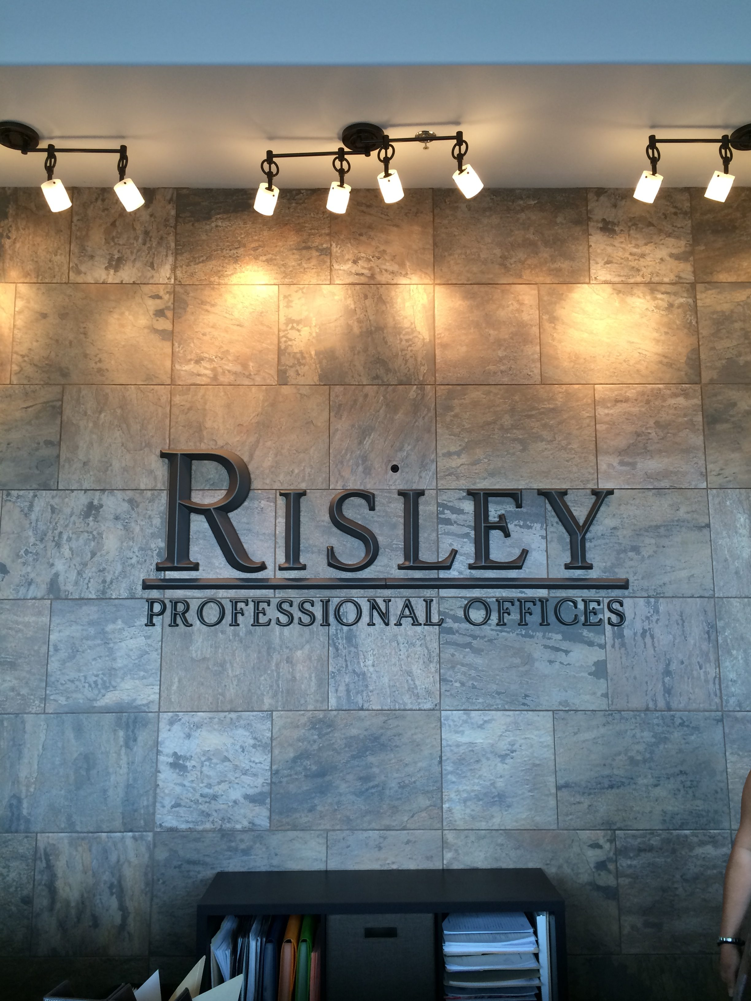 risley professional offices lobby sign